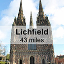 Leamington Spa to Lichfield