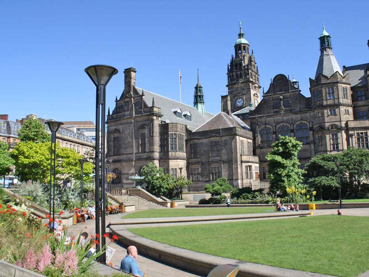 Peace Gardens and Town Hall